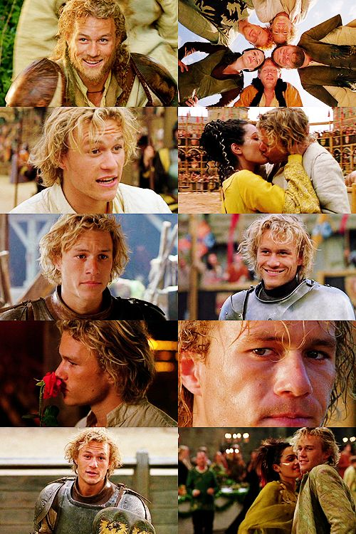 a knights tale.... best movie ever!!! Heath Ledger is so hot....