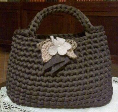 23 best borse in fettuccia images on pinterest crocheted bags crochet tote and crochet bags