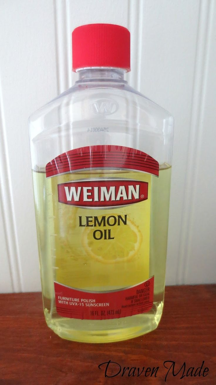 Nicole Curtis: lemon oil to refresh raw wood