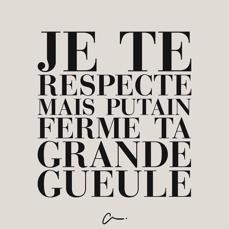 Je te respecte mais putain ferme ta gueule #LesCartons