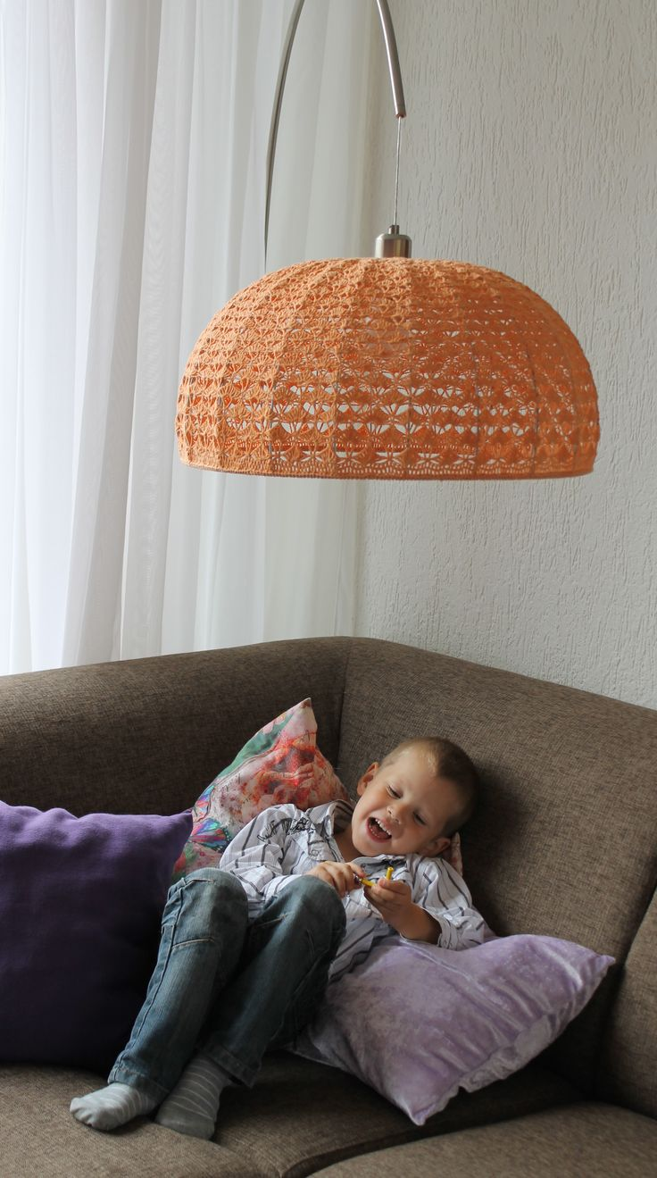 114 best crochet lampshade images on pinterest lampshades mijn gehaakte staande lamp greentooth Images