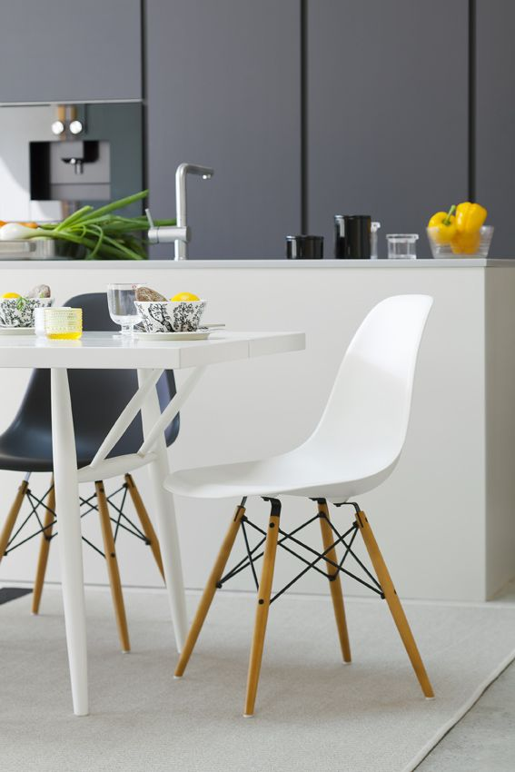 DSW chairs by Eames. Honka Lumi.