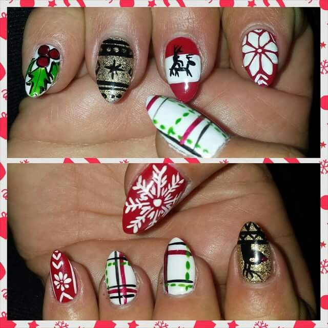 #nailedit #nailporn #ermagherdnurls #instanails #nails #dazzlingnails #nailart #hamilton #instanailart #crazytalent #canada #claws #crazynailart #instacanada #instaclaw #nailgameonpointforever #tinadidit #christmas #ugly #christmas #sweater #uglychristmassweater