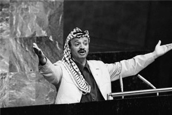 Yasser Arafat, 1974, Speech to the UN General Assembly.