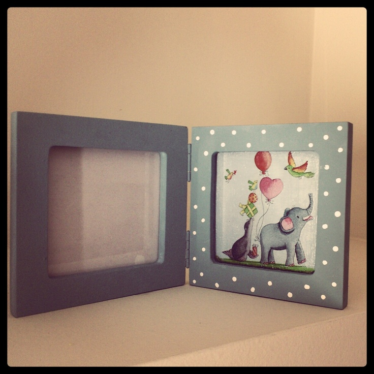 #Handmade #Frame with #decoupage