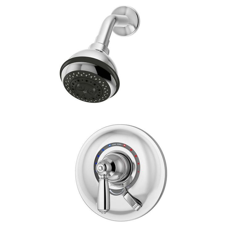 symmons s4701 allura single handle 3spray shower faucet chrome at smart solutions for commercial u0026 residential symmons pinterest - Symmons Temptrol