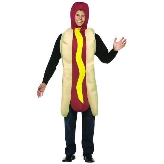 Hotdog kostuum volwassenen  Hotdog kostuum voor volwassenen. Ga met carnaval verkleed in dit grappige hotdog kostuum met saus. Maat: one size M/L.  EUR 29.95  Meer informatie