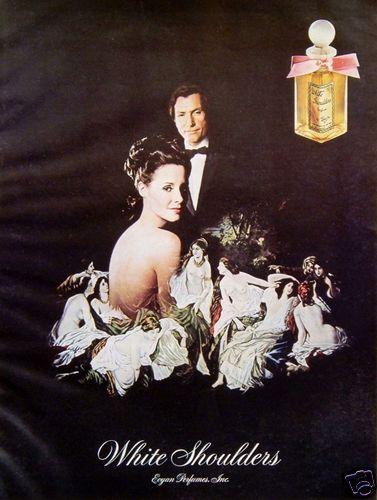 1971 Original Print Ad White Shoulders Perfume Elegant Couple Classical Women | eBay