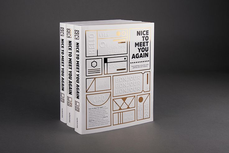 Nice To Meet You Again is a new wave of visual greetings on business cards, greeting cards and invitations.