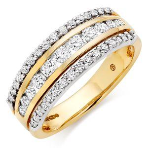 18ct Gold Diamond Half Eternity Ring