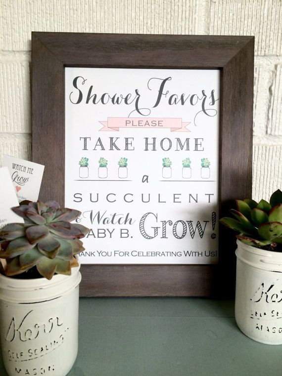 These chic little tags will add lots of love to your baby shower succulent favors!   (Let Love Grow tags shown to show different shapes - square