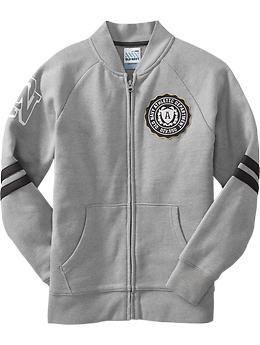 Boys Team-Style Zip Front Sweatshirts