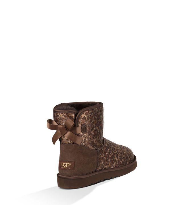 Koop online Mini Bailey Bow Glitter Laarzen voor Dames | UGG® Australia