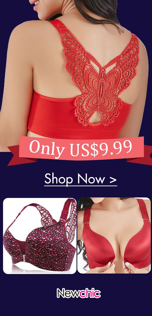 a675776151cab Butterfly Embroidery Front Closure Wireless Adjustable Gather Soft Bras   embroidery  front  closure