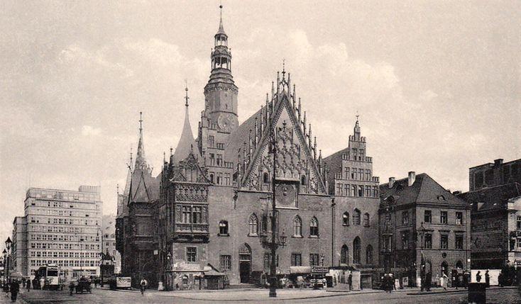 Ratusz we Wrocławiu (pocztówka) - lata trzydzieste XX wieku