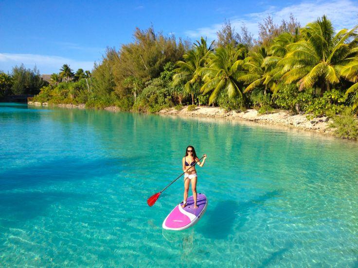 Paddle boarding in Bora Bora - Four Seasons Resort    #Paddleboardshop #paddleboard #paddleboarding