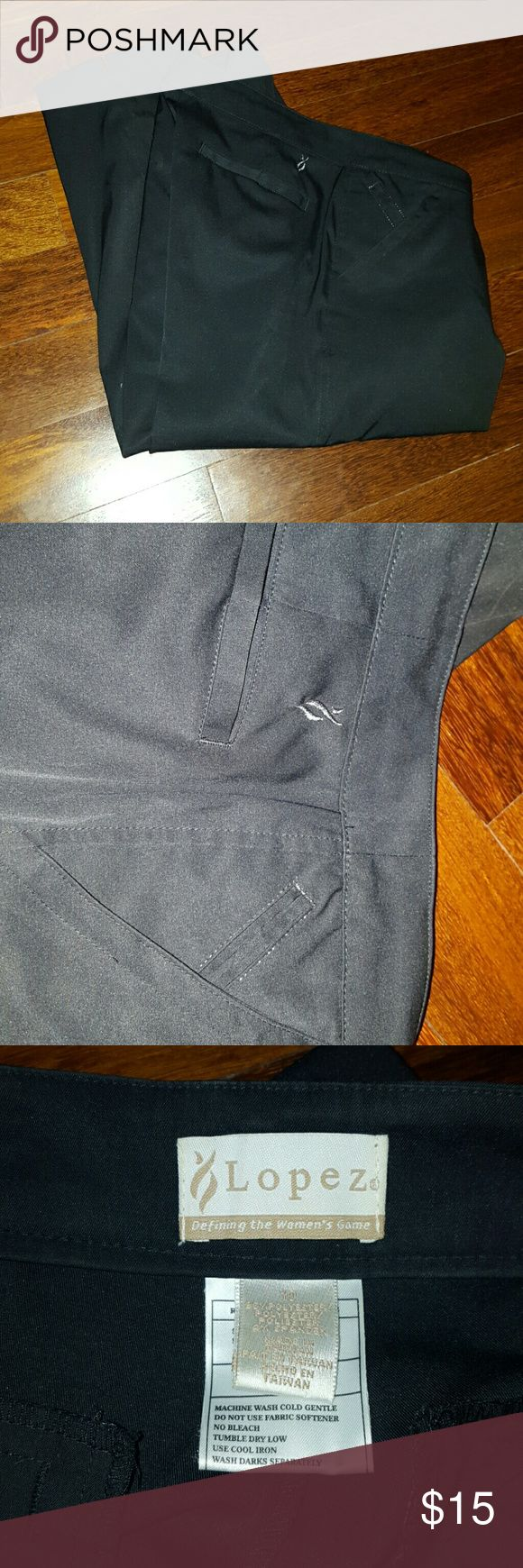 Golf capris Lopez golf capris, moderate fit, not skinny style. Great quality. Professional golf clothing brand lopez Pants Capris