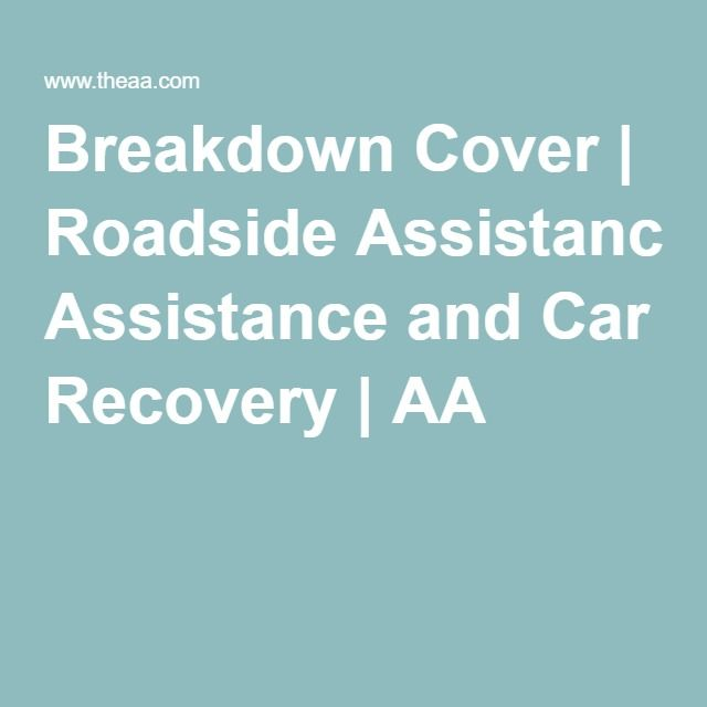 Breakdown Cover | Roadside Assistance and Car Recovery | AA