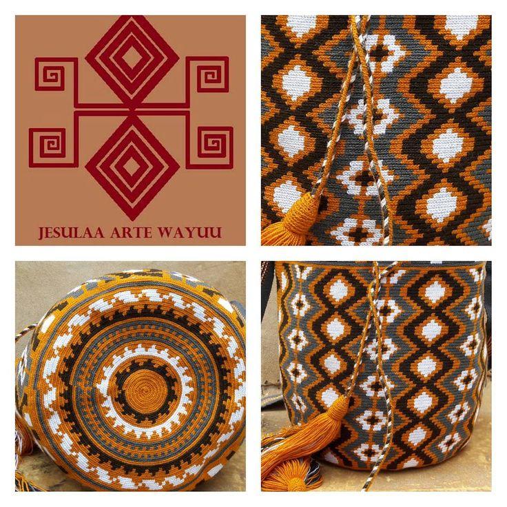 33 отметок «Нравится», 1 комментариев — Jesulaa Arte Wayuu (@jesulaa_artewayuu) в Instagram: «Hermona mochila Wayuu en tono gris y ocre, contrastando entre si y dando protagonismo a diseño…»