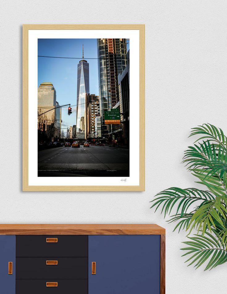 «One World Trade Center», Numbered Edition Art Print by haroulita - From 18€ - Curioos  #homedecor #homedecorideas #newyork #nyc #manhattan #artdeco #streetphotography #homedesign