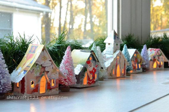 Create Your Own Putz Glitter House Village / by ShesCrafty121