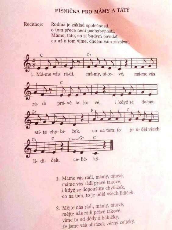 písnička pro mámy a táty