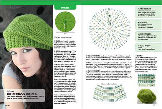 Beret Crochet Pattern for Easy and Fast. ☀CQ #crochet #apparel #hats http://www.pinterest.com/CoronaQueen/crochet-apparel-corona/