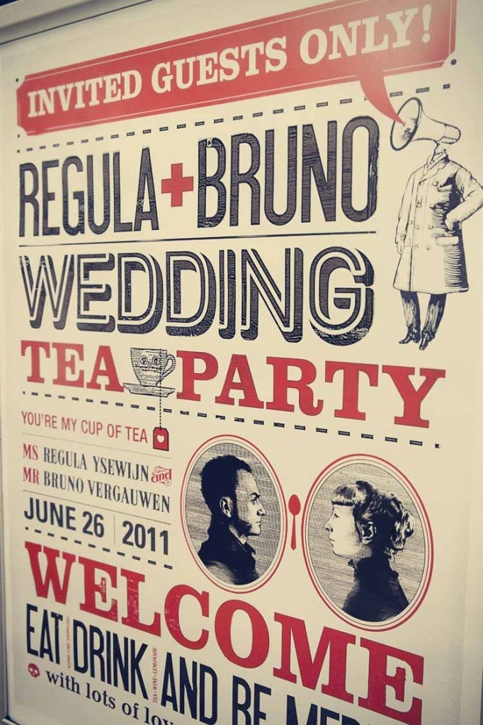 This wedding announcement has so much personality plus it has such a modernist, graphic feel.