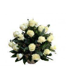 Cosuri de flori Cos de trandafiri albi
