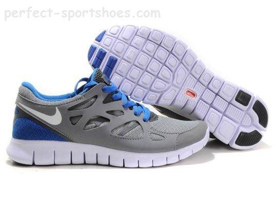 Nike Free Run 2 Pas Cher - Chaussures de course Homme Gris bleu - Nike Free  Run