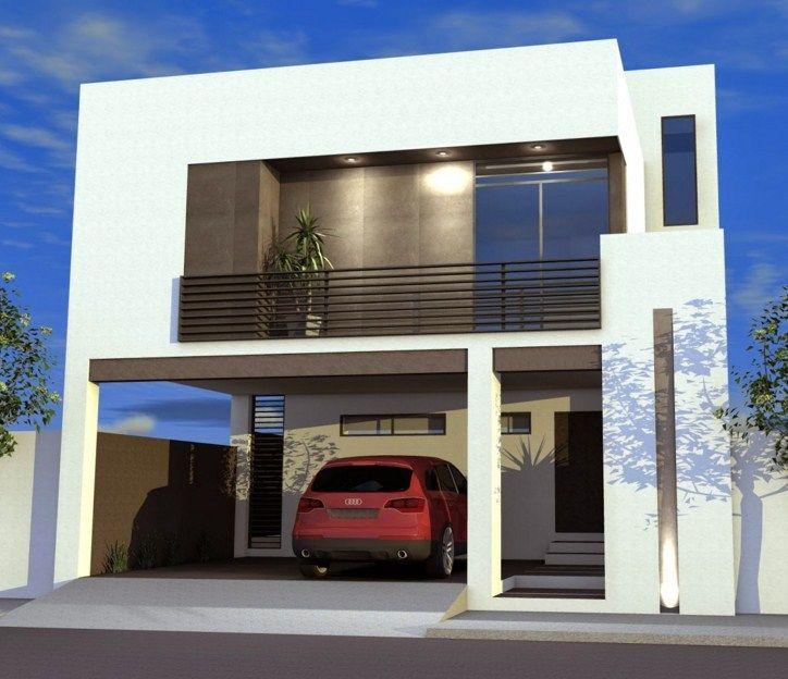 Fachadas de casas con cochera techada al frente fachadas for Casa minimalista 80 metros