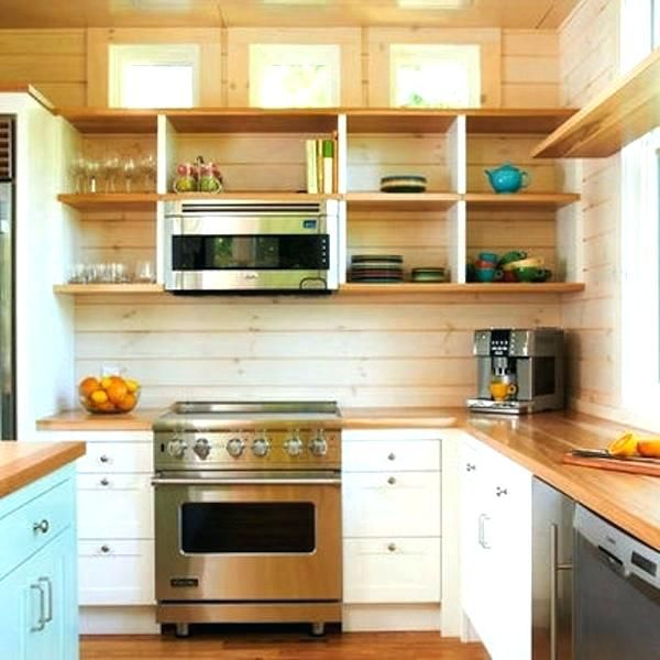 Image Result For Wall Mounted Microwave Shelf Wood Small Kitchen Layouts Modern Kitchen