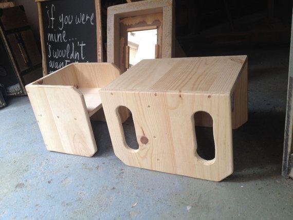 Montessori ispirato tavolo e sedia di MontessoriSimply su Etsy