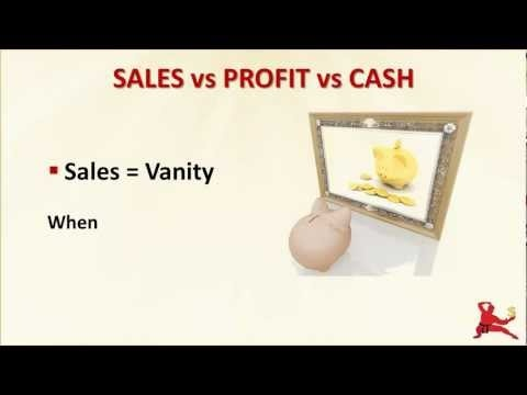 What Is Cash Flow? This video explains the important distinction between cash flow, sales and profit. Never confuse sales or profit with cash flow!