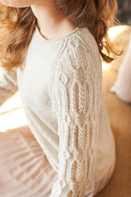 Ravelry: Hellebore pattern by Michele Wang. Lovely cable sleeve