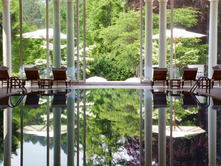 86 best indoor swimming pools images on pinterest indoor swimming pools spas and beautiful hotels. Black Bedroom Furniture Sets. Home Design Ideas