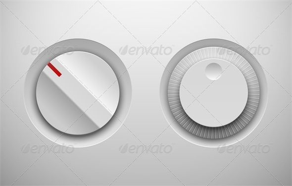 UI Control Knob Regulators