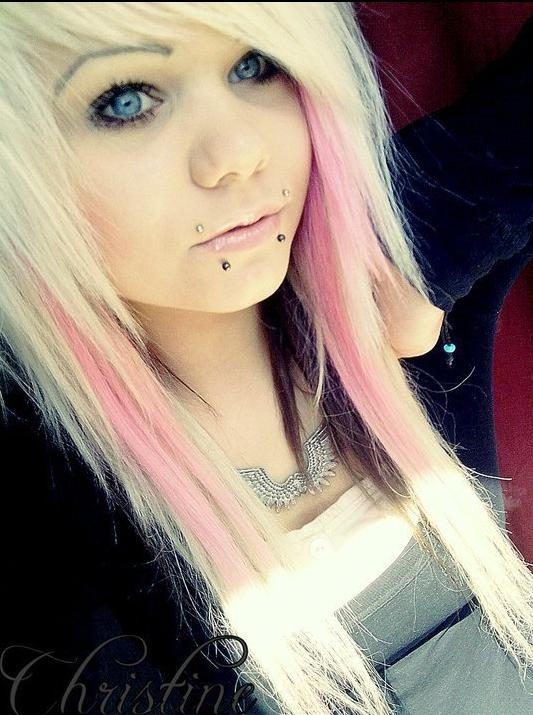 Blonde With Pink Hair Hairstyles Pinterest