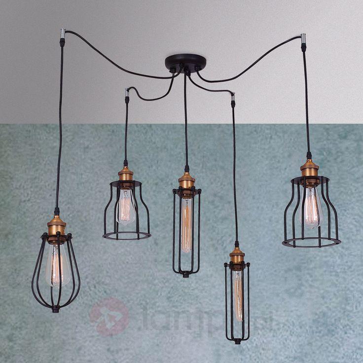 Pięciopunk. lampa wisząca Ustika - styl rustykalny 1054115