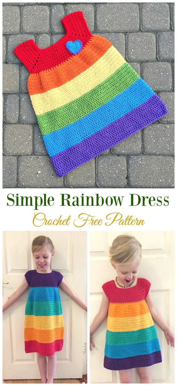 Crochet Girls Dress Free Patterns & Instructions – Shelley MacAdam