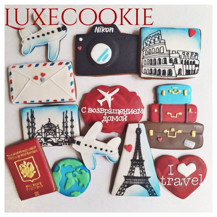 Travel cookie decor