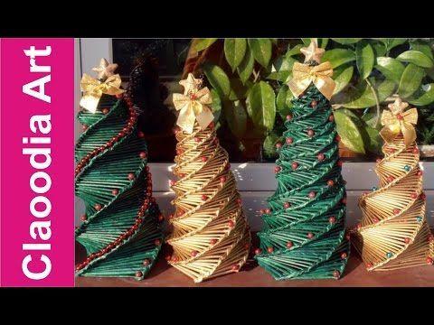 fenyő Jak zrobić choinkę z papierowej wikliny? [Christmas tree, paper wicker] (Claoodia Art) - YouTube