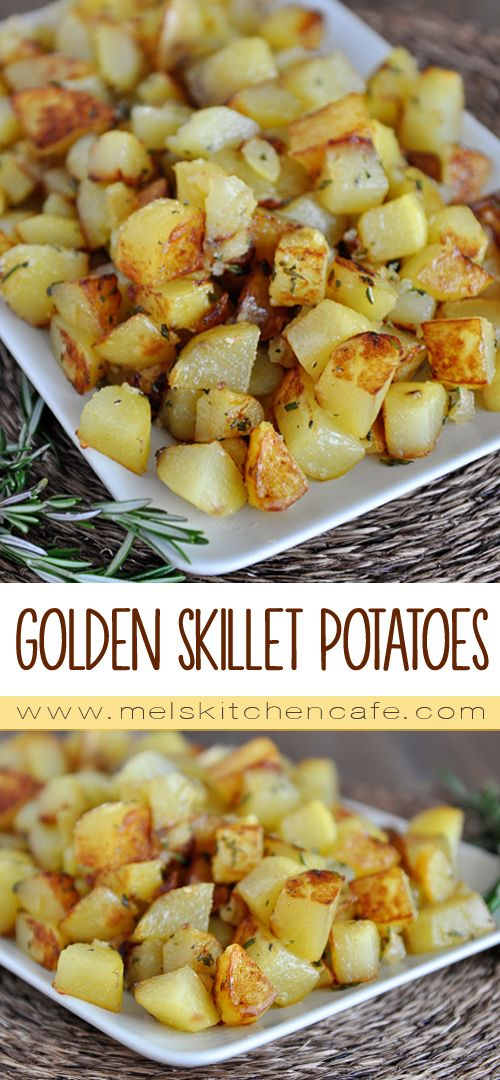 These Golden Skillet Potatoes are egg-free, nut-free, gluten-free and very, very tasty.
