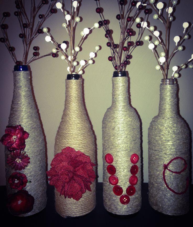 Wine bottle craft craft ideas pinterest wine bottle for Wine bottle crafts for sale