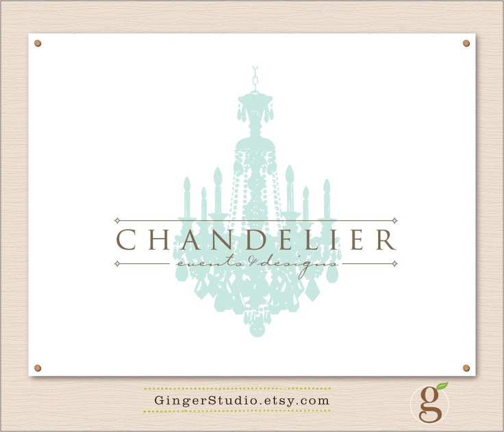 Premade Logo Design branding vintage chandelier -156. $30.00, via Etsy.