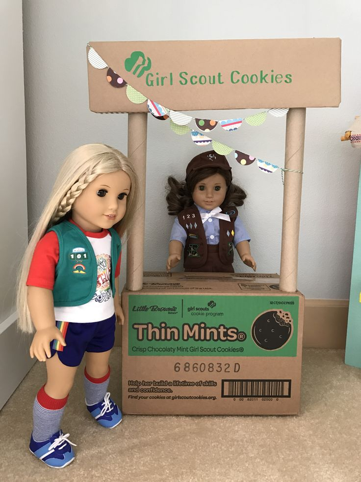 American Girl Doll Girl Scout Cookie Booth, Bling Your Booth