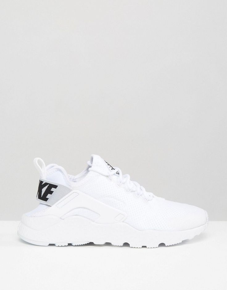 Image 2 of Nike Huarache Run Ultra Trainers In White