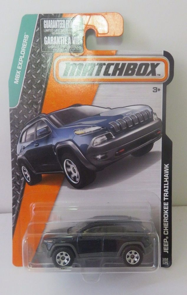 Matchbox 2016 Jeep Cherokee Trailhawk Blue Die Cast 1:64  #Matchbox #Jeep