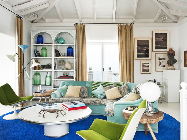 Escape to the Coolest Coastal Home in Spain // Designer Maria LladóMaria Llado, Blue, Coastal Home, Interiors Design, Living Room, Colors Palettes, Arkpad Apresentamo, Colors Interiors, Maria Lladó