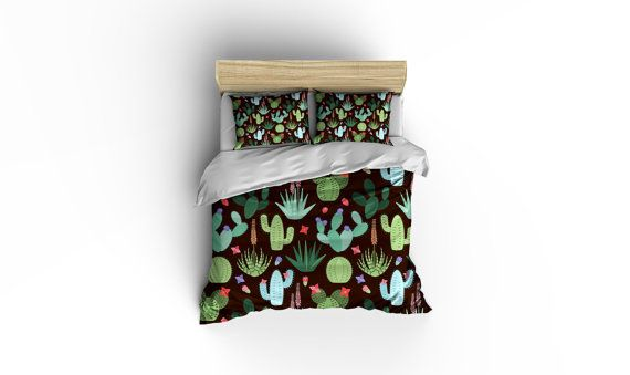 Cactus Duvet Covers,Cactus bedding,Southwest designer bedding, Southwest bedding,Cactus Linens,Southwestern style bedding,Cactus duvet cover